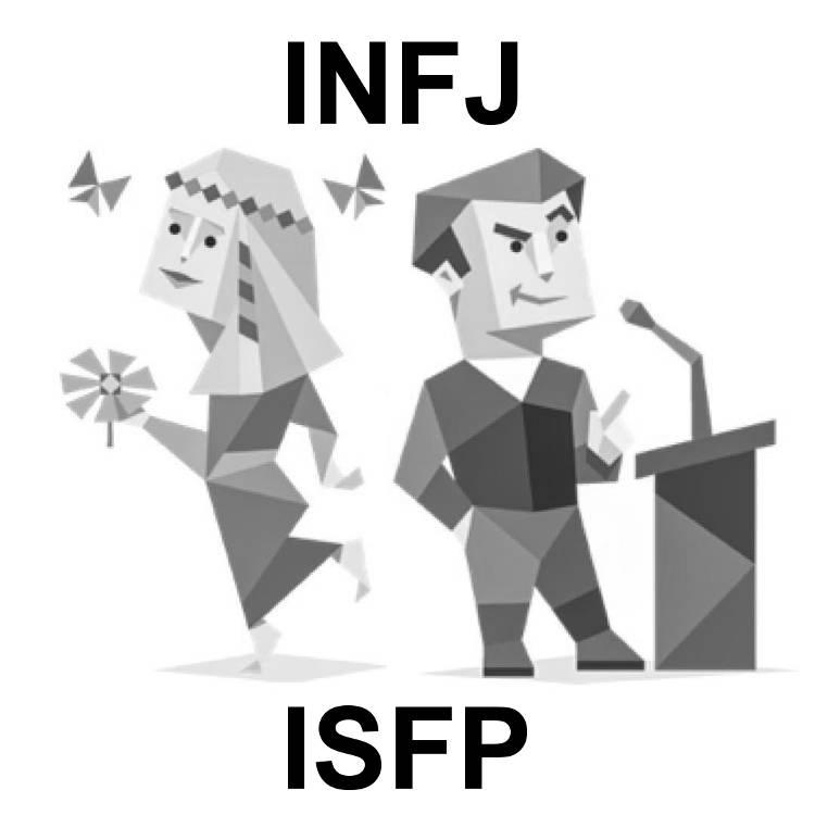 Интроверты: INFJ и ISFP